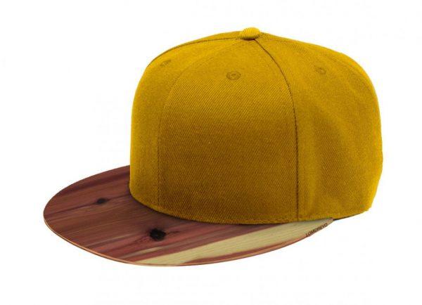 Žltá šiltovka s dreveným šiltom – Aromatic | Hendikup