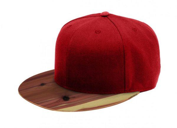 Červená šiltovka s dreveným šiltom – Aromatic | Hendikup