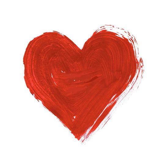 Namaľované červené srdce | Hendikup