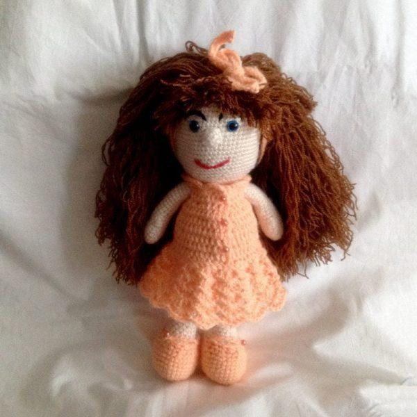 Pletená hračka dievčatko - Anna Mokrá | Hendikup