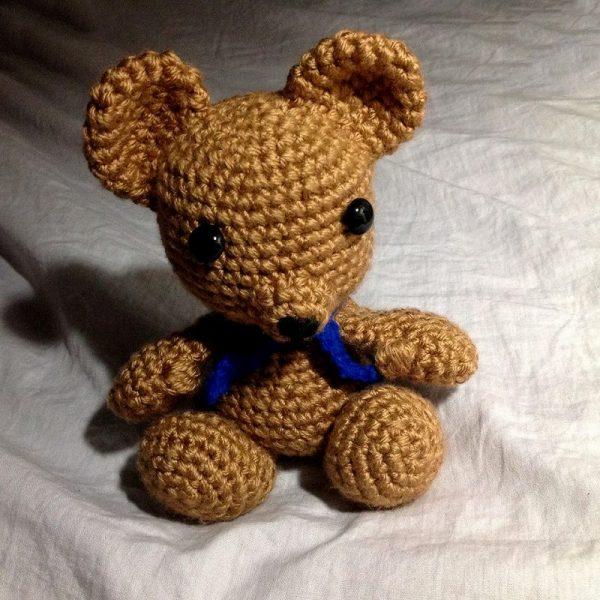 Pletená hračka hnedý medvedík - Anna Mokrá | Hendikup