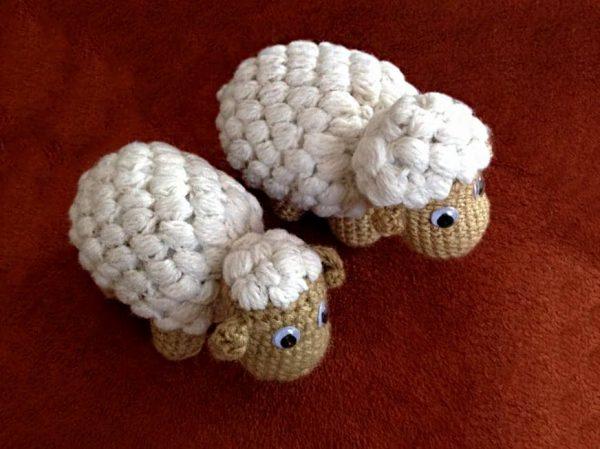 Pletená hračka ovečky - Anna Mokrá | Hendikup