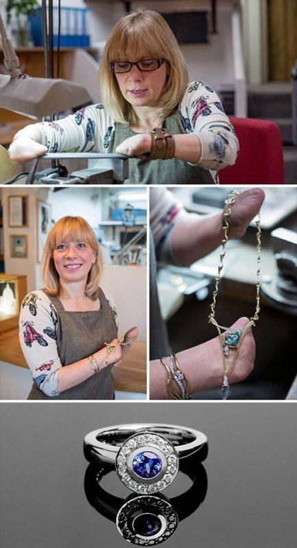 Annette Gabbedey výroba šperkov bez rúk | Hendikup