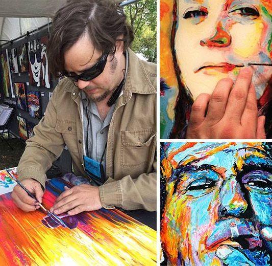 John Bramblitt maliar bez zraku | Hendikup
