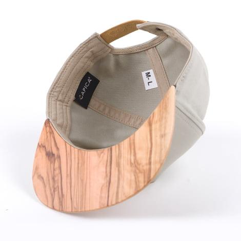 Šedá šiltovka s dreveným šiltom – santos palisander | Hendikup