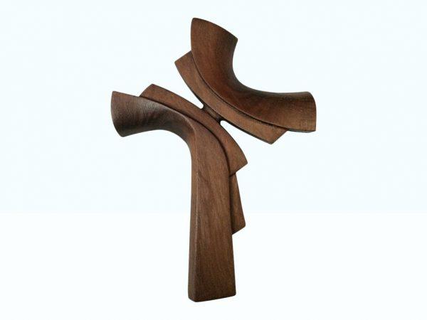 Ručne vyrezávaný krížik z dreva orech tmavý | Hendikup