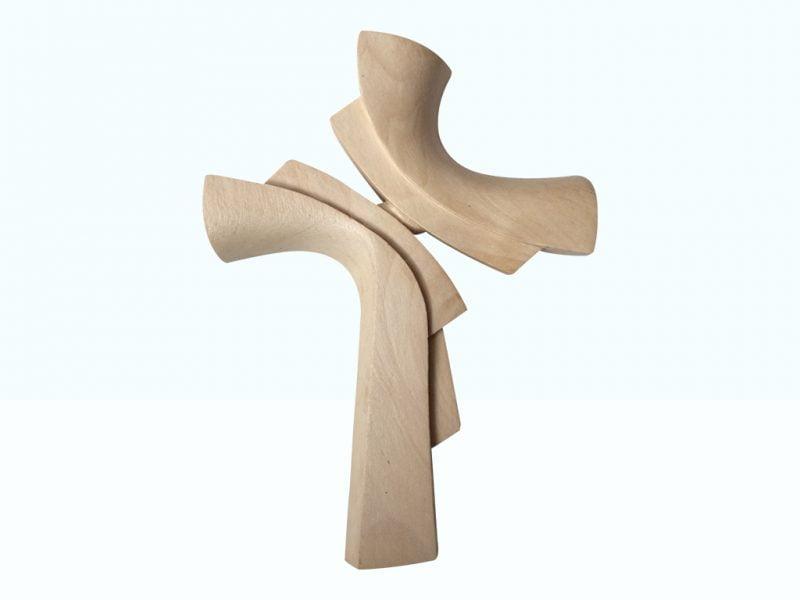 Ručne vyrezávaný krížik z dreva lipa | Hendikup