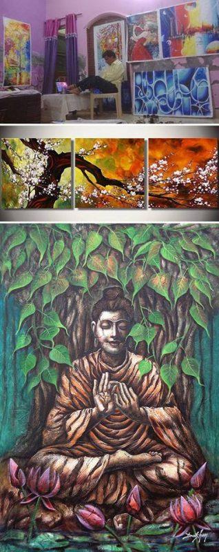 Uttam Kumar Bhardwaj maľuje pomocou nôh | Hendikup