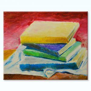 Obraz zátišie kníh - Kristína Vozárová | Hendikup