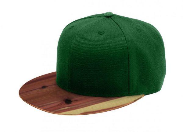 Zelená šiltovka s dreveným šiltom – Aromatic | Hendikup