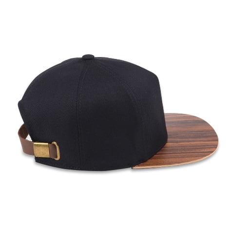 Čierna modrá šiltovka s dreveným šiltom – santos palisander | Hendikup