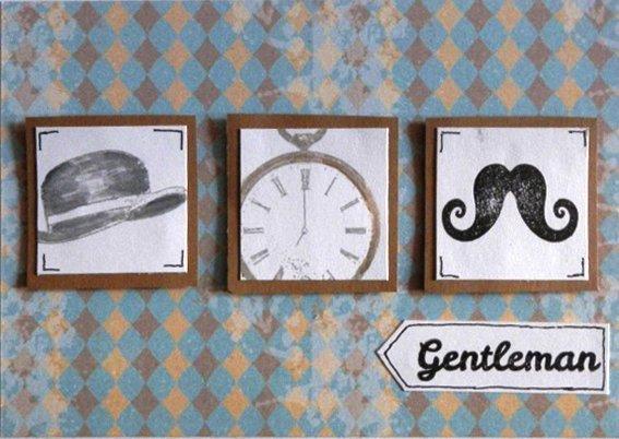 Sada obrazov gantleman klobuk, hodiny, fúzy - Karolova | Hendikup