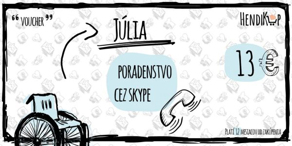 Voucher na poradenstvo cez skype cena 13€ - Júlia | Hendikup