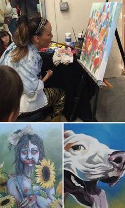 Alana maľuje bez ruk