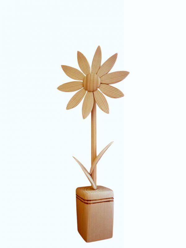 Drevený kvet margarétka